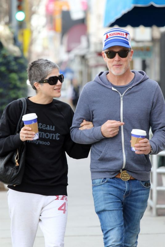 SELMA BLAIR and David Lyons Out for Coffee in Los Angeles 01/30/2020