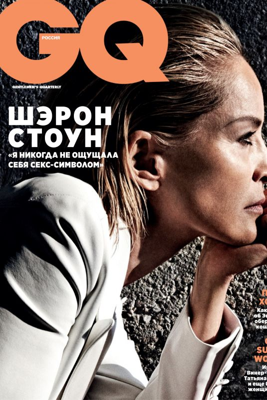 SHARON STONE in GQ Magazine, Russia February 2020