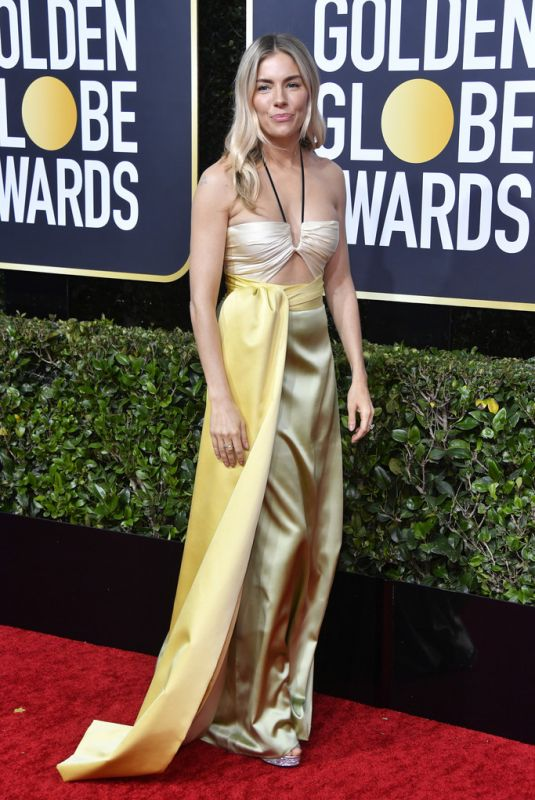 SIENNA MILLER at 77th Annual Golden Globe Awards in Beverly Hills 01/05/2020