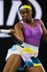 SLOANE STEPHENS at 2020 Australian Open at Melbourne Park 01/20/2020
