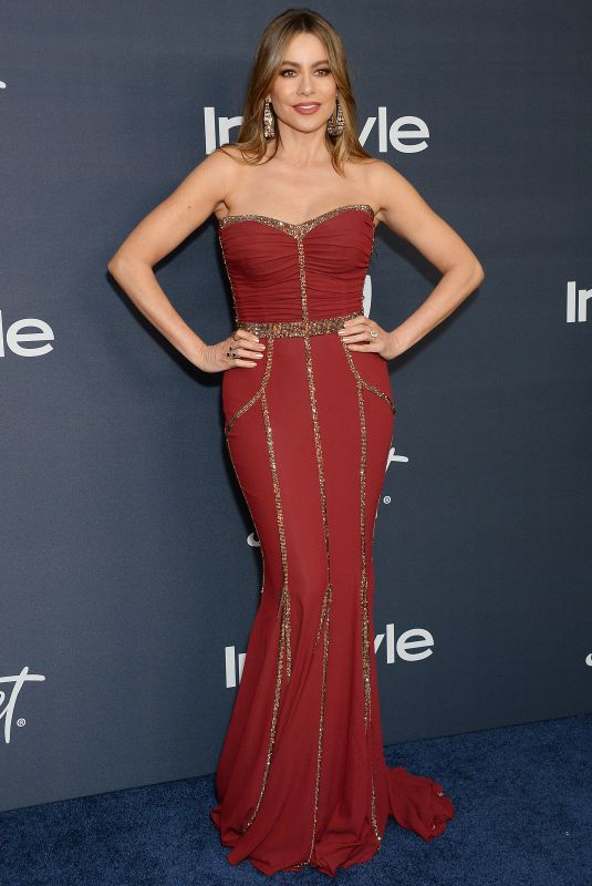 SOFIA VERGARA at Instyle and Warner Bros. Golden Globe Awards Party 01/05/2020