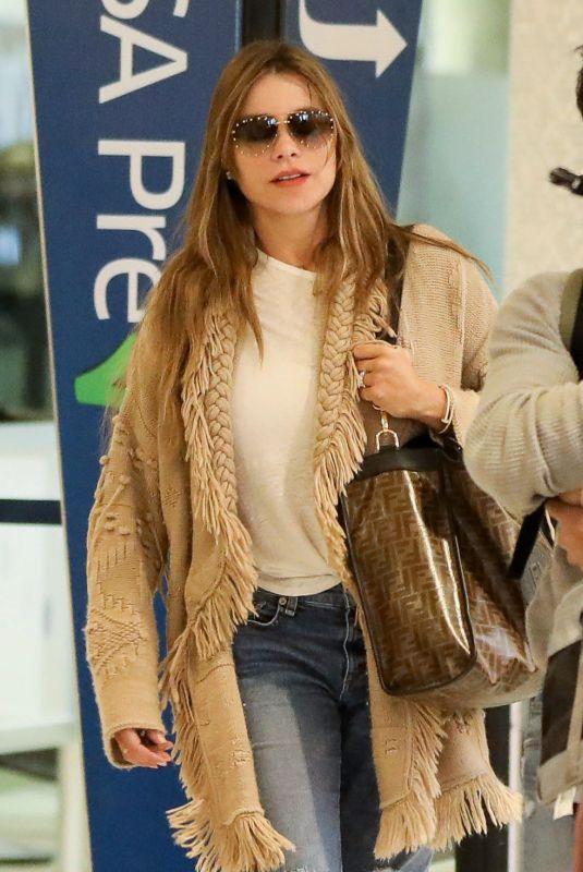 SOFIA VERGARA at LAX Airport in Los Angeles 01/02/2019