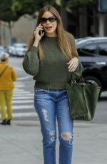 SOFIA VERGARA in Ripped Jeans Out in Beverly Hills 01/20/2020