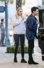 SOPHIE TURNER and Joe Jonas Leaves Their Hotel in Beverly Hills 01/23/2020