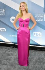 SOPHIE TURNER at 26th Annual Screen Actors Guild Awards in Los Angeles 01/19/2020
