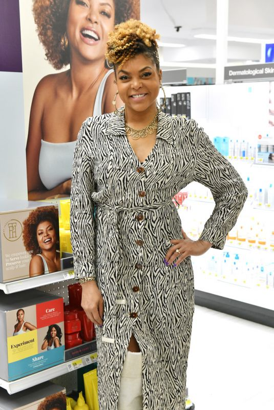 TARJI P. HENSON as Surprises Guests at Herald Square Target Store in New York 01/24/2020
