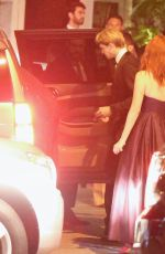TAYLOR SWIFT Leaves Golden Globes After-party at Sunset Tower in Los Angeles 01/05/2020