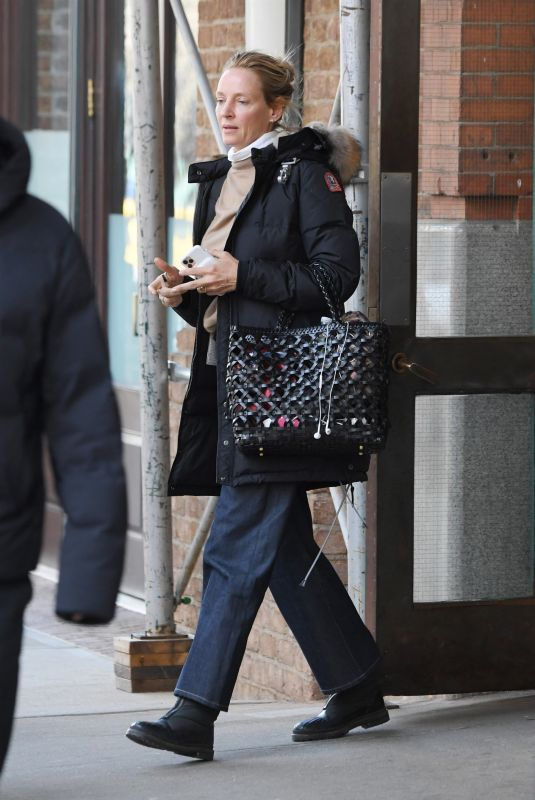 UMA THURMAN Out in new York 01/30/2020