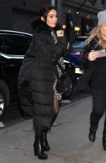 VANESSA HUDGENS Arrives at Good Morning America in New York 01/17/2020
