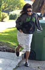 VANESSA HUDGENS Taking Out Trash in Studio City 01/14/2020
