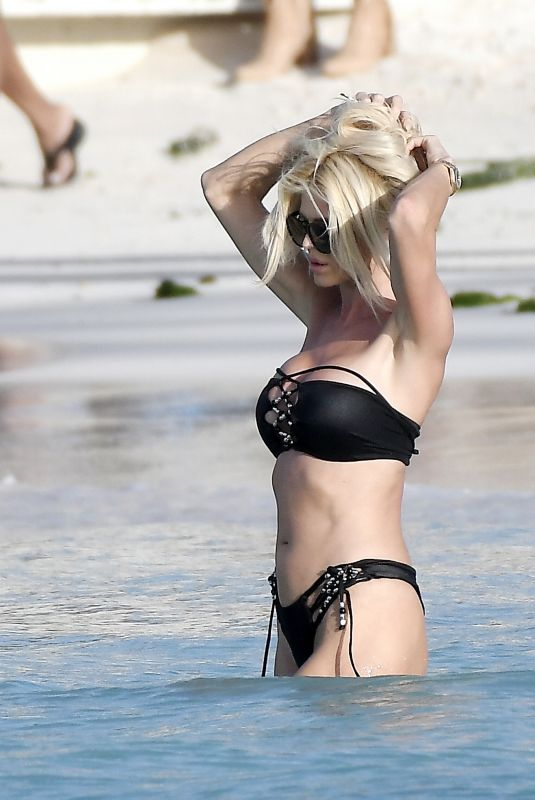 VICOTIRA SILVSTEDT in Bikini at a Beach in St Barths 01/09/2020