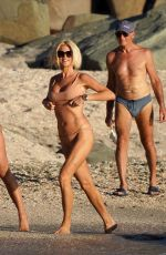 VICTORIA SILVSTEDT in Bikini on the Beach in St. Barts 01/06/2020