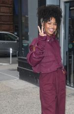 YARA SHAHIDI Arrives at Build Series in New York 01/14/2020