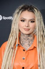 ZHAVIA at Spotify Hosts Best New Artist Party in Los Angeles 01/23/2020