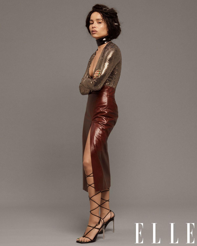 Zoe Kravitz Uk: ZOE KRAVITZ For Elle Magazine, February 2020