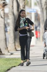 ZOE SALDANA Out and About in Los Angeles 01/18/2020