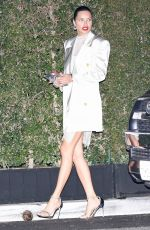 ADRIANA LIMA Leaves Pre-oscar Party at San Vicente Bungalows in West Hollywood 02/08/2020