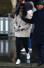 ADRIANA LIMA Out on a Rainy Day in Paris 02/26/2020