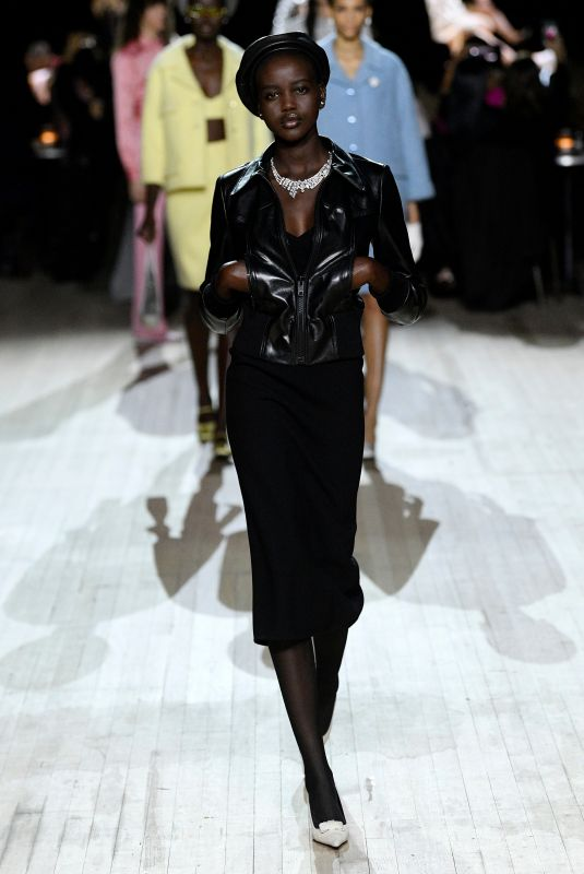 ADUT AKECH at Marc Jacobs Runway Show at New York Fashion Week 02/12/2020