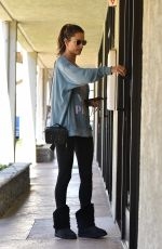 ALESSANDRA AMBROSIO Arrives at a Spa in Los Angeles 02/07/2020