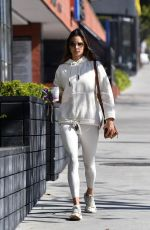 ALESSANDRA AMBROSIO Arrives at Pilates Studio in Los Angeles 02/20/2020