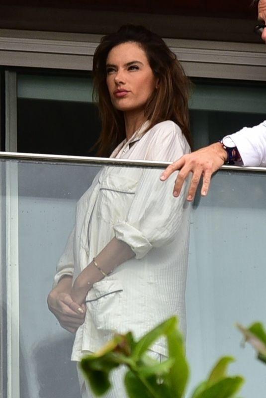 ALESSANDRA AMBROSIO at a Photoshoot on Her Hotel Balcony in Rio De Janeiro 02/27/2020