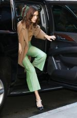 ALEXA CHUNG Arrives at Build Series in New York 02/03/2020