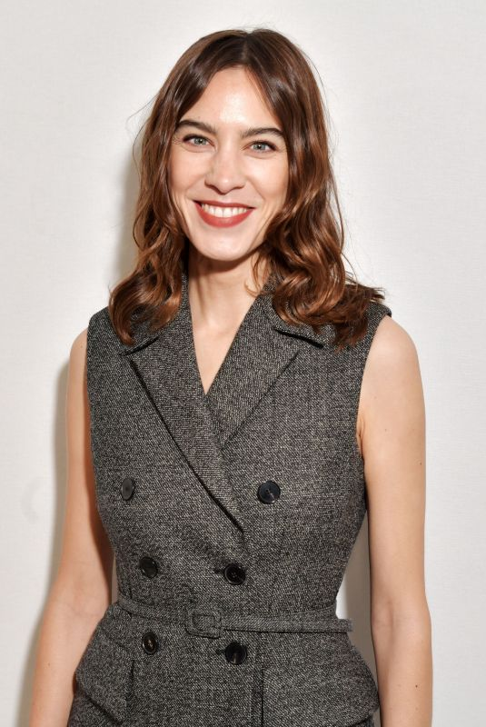 ALEXA CHUNG at Christian Dior Fashion Show in Paris 02/25/2020