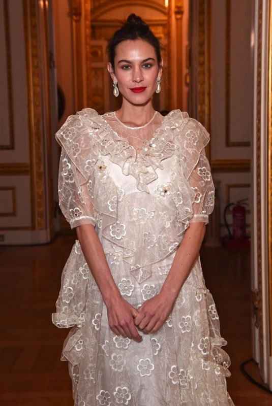 ALEXA CHUNG at Simone Rocha Fashion Show in London 02/16/2020