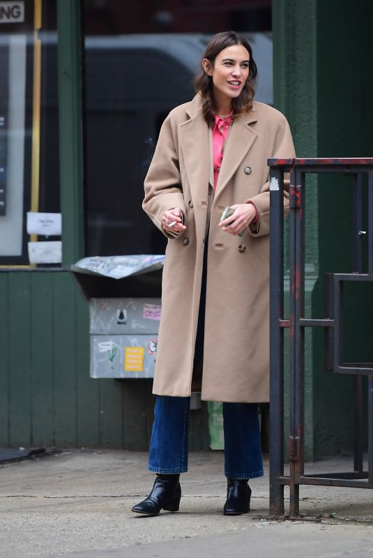 ALEXA CHUNG Out and About in New York 01/31/2020