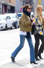 ALEXA CHUNG Out and About in New York 02/15/2020