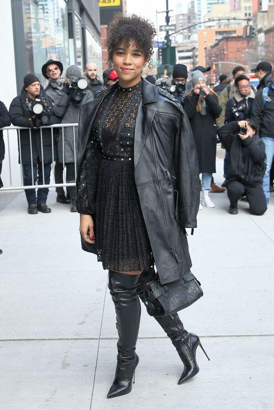 ALEXANDRA SHIPP Arrives at Longchamp Fashion Show in New York 02/08/2020