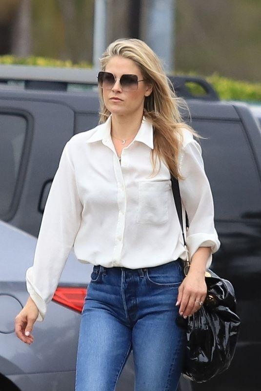 ALI LARTER in Denim Leaves a Hair Salon in Beverly Hills 02/27/2020