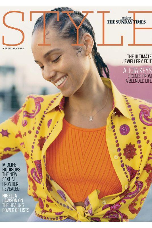 ALICIA KEYS in The Sunday Times Style Magazine, February 2020