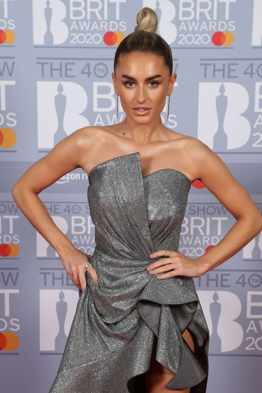 AMBER DAVIES at Brit Awards 2020 in London 02/18/2020