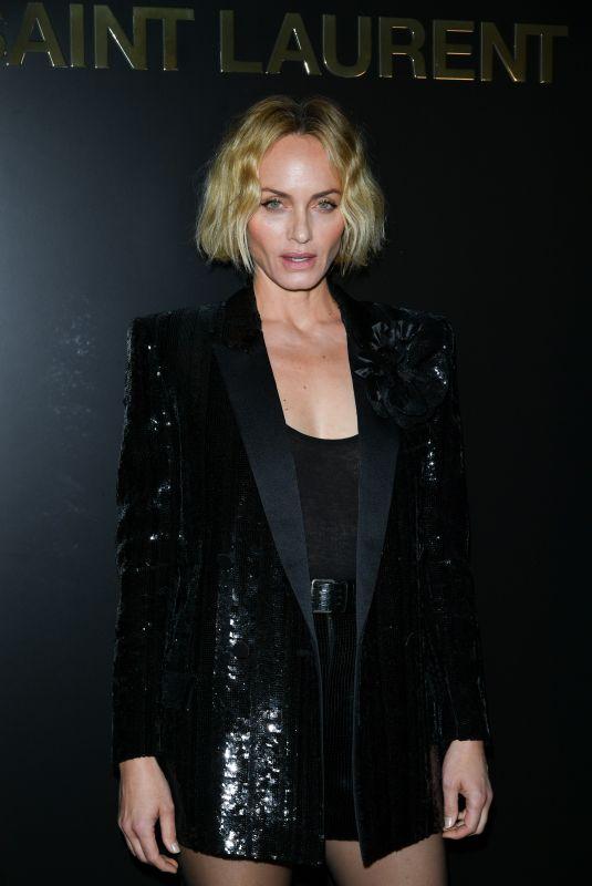 AMBER VALLETTA at Saint Laurent Fashion Show in Paris 02/25/2020