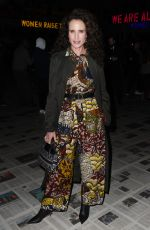 ANDIE MACDOWELL at Christian Dior Show at Paris Fashion Week 02/25/2020