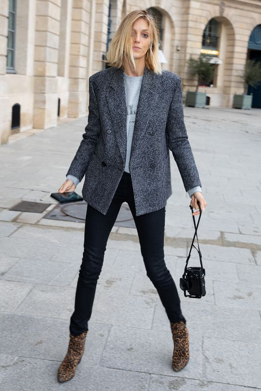 ANJA RUBIK Arrives at Ritz Hotel in Paris 02/27/2020
