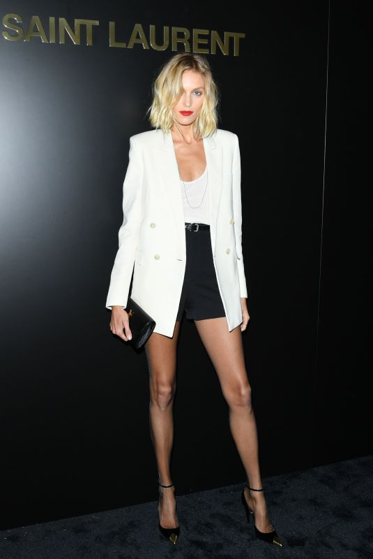 ANJA RUBIK at Saint Laurent Fashion Show at PFW in Paris 02/25/2020