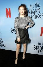 ANNA CATHCART at All the Bright Places Special Screening in Hollywood 02/24/2020