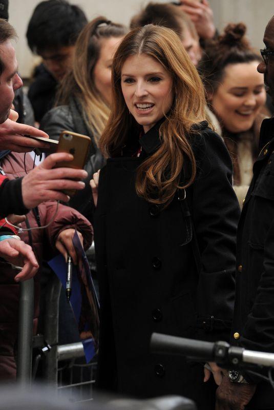 ANNA KENDRICK Leaves BBC Radio 2 in London 02/14/2020