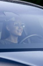 ARIANA GRANDE Driving Out in Los Angeles 02/11/2020