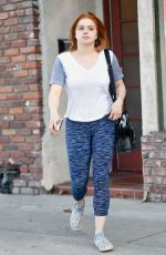 ARIEL WINTER Debuts Red Hair Handling Package in Hollywood 02/25/2020