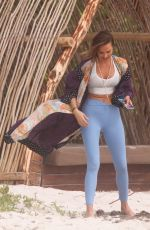 ARIELLE KEBBEL Out at a Beach in Tulum 02/19/2020
