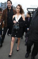 ASHLEY BENSON Arrives at Balmain Show at Paris Fashion Week 02/28/2020