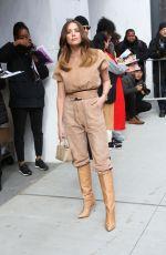 ASHLEY BENSON Arrives at Longchamp Fashion Show in New York 02/08/2020