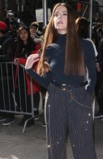 ASHLEY BENSON Arrives at Michael Kors Show at New York Fashion Week 02/12/2020