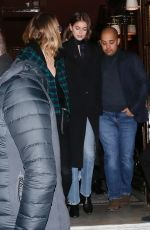 ASHLEY BENSON, CARA DELEVINGNE and KAIA GERBER Leave Hotel Costes in Paris 02/24/2020