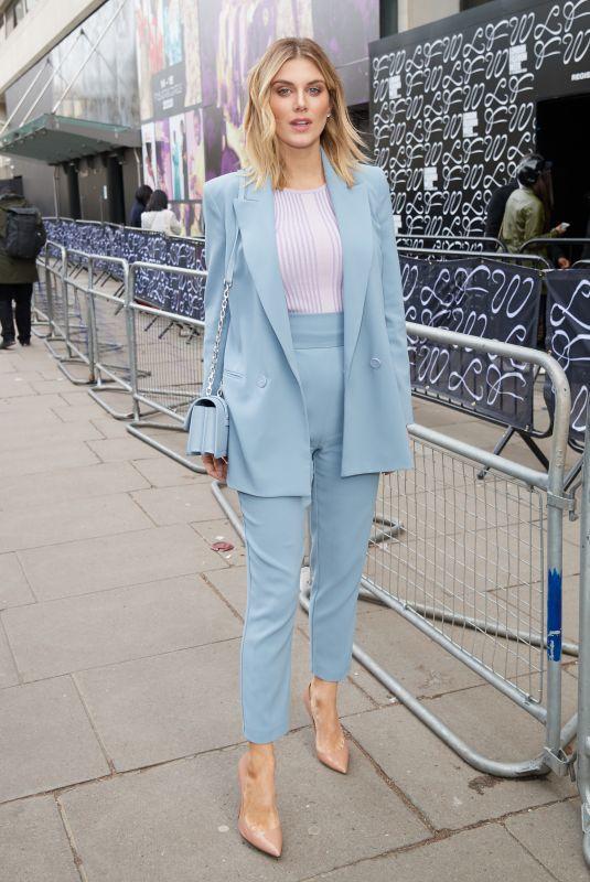 ASHLEY JAMES Out at London Fashion Week 02/14/2020