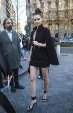 BARBARA PALVIN Arrives at Versace Show at Milan Fashion Week 02/21/2020